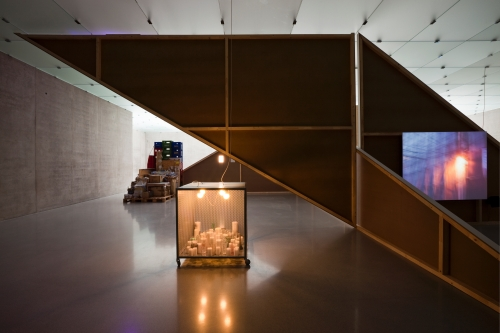 Storage Piece, Site cube, Installation view 1st floor, Kunsthaus Bregenz