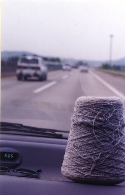 Picture photographed a skein of thread at Mr. Hong's Car driven toward Gongju